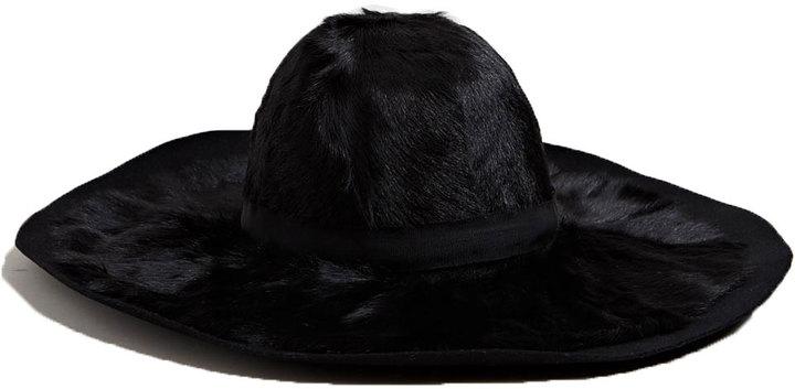 Lanvin Women's Rabbit Fur Wide Rim Hat