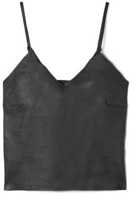 SPRWMN - Stretch-leather Camisole - Black