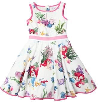MonnaLisa Mermaid Print Cotton Poplin Dress