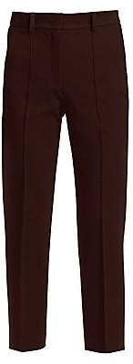 Akris Punto Women's High-Waist Cropped Boyfriend Pants