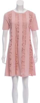 Valentino Crew-Neck A-Line Dress w/ Tags Pink Crew-Neck A-Line Dress w/ Tags