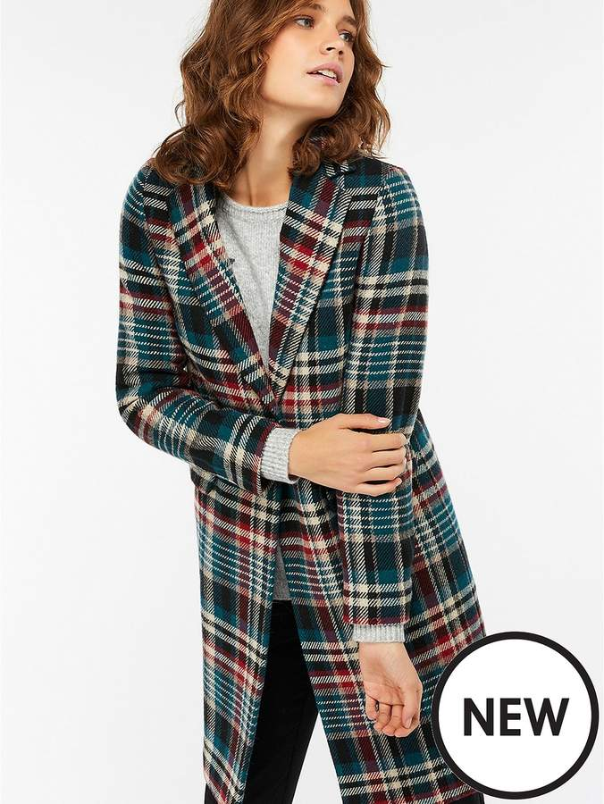 Fergie Check Coat - Teal