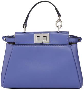 Fendi Peekaboo Leather Top Handle Satchel Bag