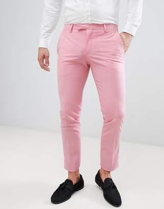 Noose & Monkey Super Skinny Suit Pants In Pink