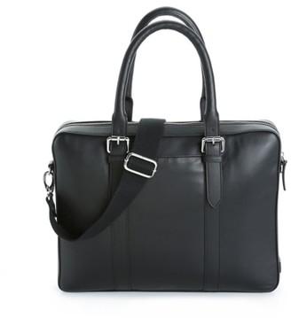 Cole Haan Buckle Leather Laptop Messenger Bag