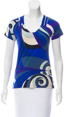 Emilio Pucci Printed Short Sleeve T-Shirt
