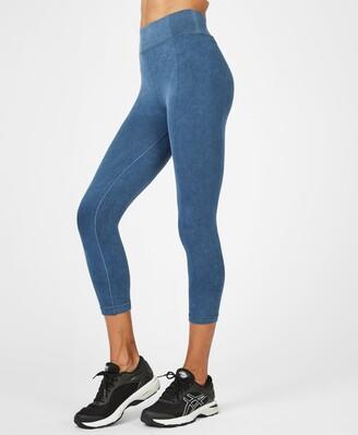 Sweaty Betty Indigo High Waisted Seamless Cropped Workout Leggings