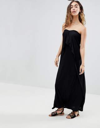 Asos DESIGN Layered Bandeau Jersey Maxi Beach Dress