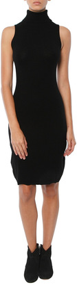 Minnie Rose Super Luxe Sleeveless Turtleneck Dress $319 thestylecure.com
