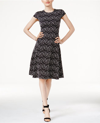 Alfani Lace Fit & Flare Dress, Created for Macy's $99.50 thestylecure.com