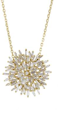 Suzanne Kalan Baguette and Round Diamond Firework Pendant Necklace - Yellow Gold