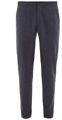 Incotex Drawstring Waist Wool Flannel Slim Leg Trousers - Mens - Blue