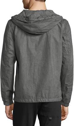 Antony Morato Men's Hooded Zip-Front Jacket, Olive