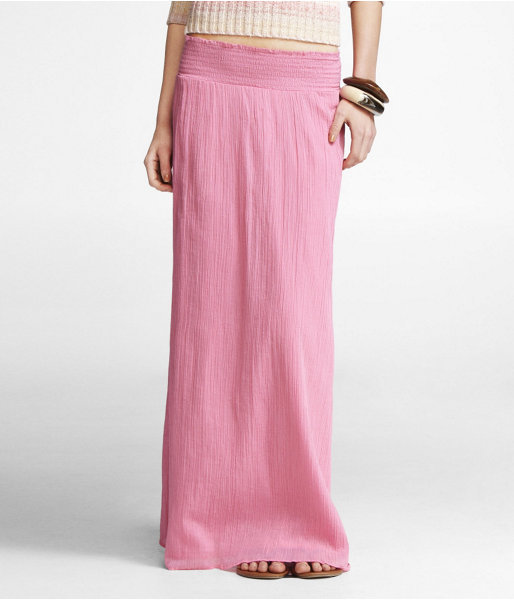 Crinkle Gauze Maxi Skirt