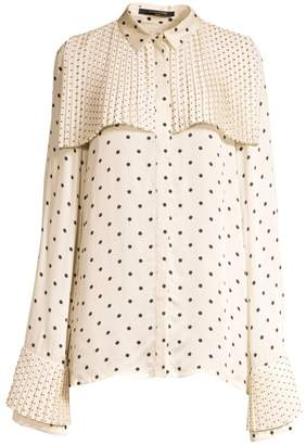 Mother of Pearl Polka-Dot Blouse