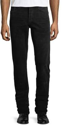 Tom Ford 5-Pocket Straight-Leg Corduroy Pants, Worn Charcoal