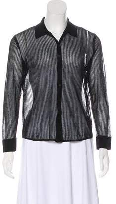 Theyskens' Theory Knit Button-Up Top