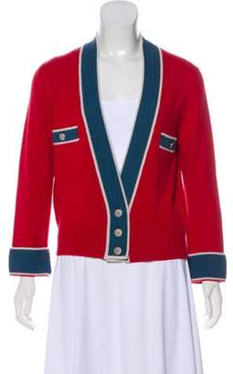 Chanel Cashmere Knit Cardigan Red Cashmere Knit Cardigan