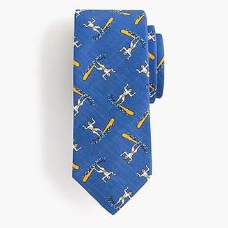 J.Crew Drake's® silk-cotton tie in blue