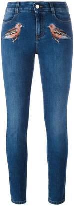 Stella McCartney robin embroidered skinny jeans