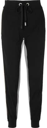 NO KA 'OI NO KA'OI Kana Striped Stretch Track Pants - Black