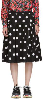 Marc Jacobs Black and White Polka Dot Skirt