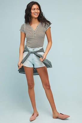 AG Jeans Bryn High-Rise Distressed Denim Shorts
