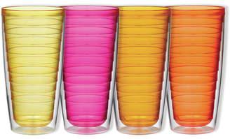 Boston Warehouse Trading Corp 4 Piece 24 oz. Plastic Every Day Glass Set