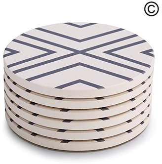 Lifver 6-Piece Absorbent Stone Coaster set
