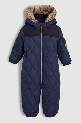 Next Boys Navy Quilted Snowsuit (3mths-6yrs)