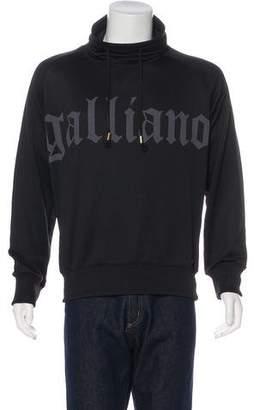 Galliano Graphic Turtleneck Sweatshirt