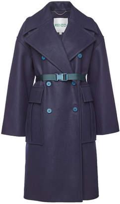 Kenzo Virgin Wool Coat with Belt