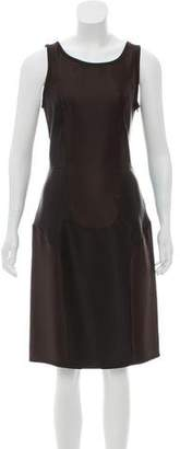Miu Miu Silk Knee-Length Dress