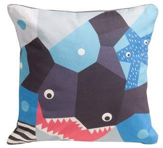 Nurseryworks Nursery Works Oceanography Cubist Print Toddler Pillow Case