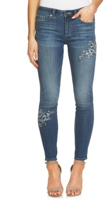 Women's Cece Floral Embroidered Skinny Jeans $139 thestylecure.com