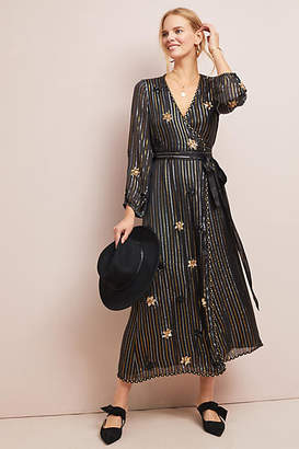 MISA Starry Shimmer Wrap Dress