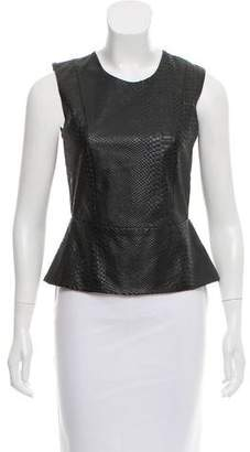 Mason Embossed Leather Top w/ Tags