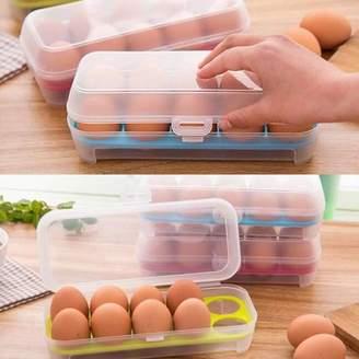 Girl12Queen Plastic Transparent Eggs Preservation Box Kitchen Refrigerator Storage Case
