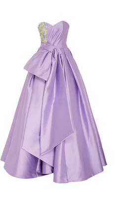 Viktor & Rolf Embroidered Bow Drape Ballgown