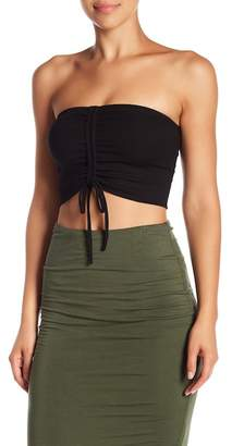Blvd Strapless Front Ruched Crop Top