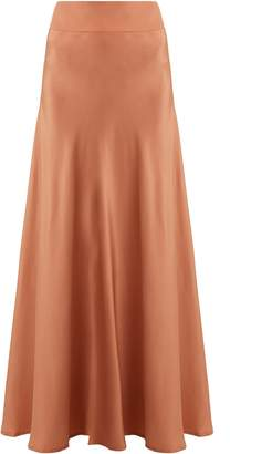 KALITA Inky As The Night Sky bias-cut skirt