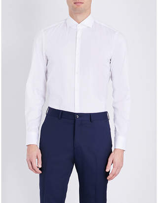 HUGO BOSS Slim-fit cotton-blend shirt