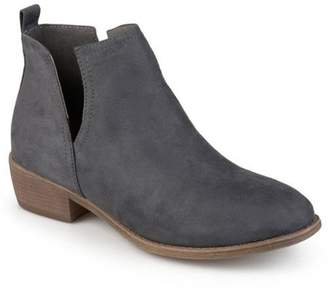 Brinley Co. Womens Faux Suede Cut-out Round Toe Boots