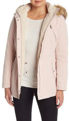 Nautica Faux Fur Trimmed Hooded Jacket