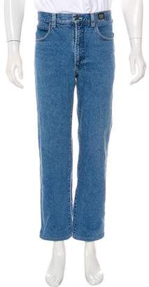 Versace Five-Pocket Straight-Leg Jeans