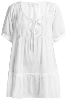 Pour les femmes Pour Les Femmes - Pin Tuck Cotton Nightdress - Womens - White