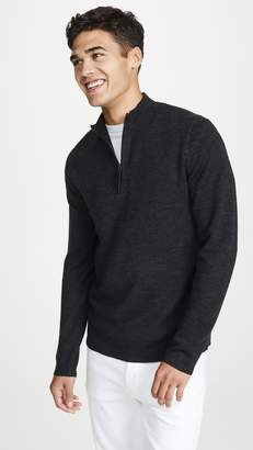 Theory Detroe Merino Quarter Zip Sweater