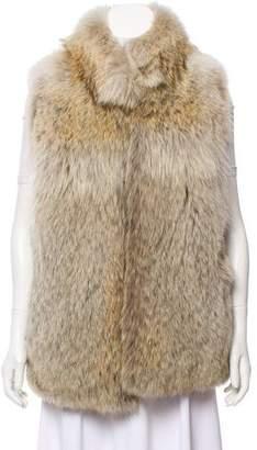 Haute Hoodie Fur Short Vest