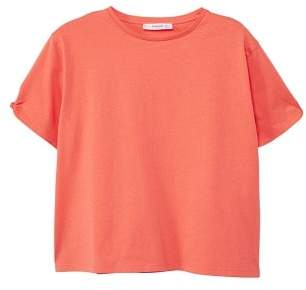 MANGO Knot cotton t-shirt