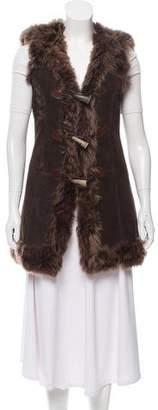 Dolce & Gabbana Leather Fur Vest